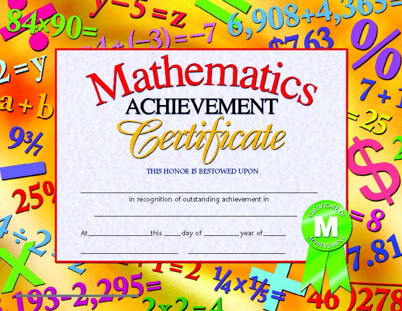 Pin On Awards with regard to Math Achievement Certificate Printable
