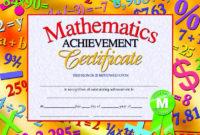 Pin On Awards within Math Award Certificate Templates