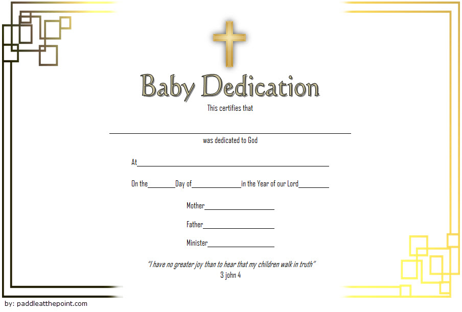 Pin On Baby Dedication Certificate Printable Free Throughout Blessing Certificate Template Free 7 New Concepts