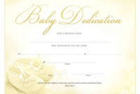 Pin On Baby Dedication in Best Baby Dedication Certificate Templates