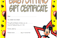 Pin On Babysitting Certificate Template Free with regard to 7 Babysitting Gift Certificate Template Ideas