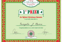 Pin On Bday Calendar throughout Best Free Ugly Christmas Sweater Certificate Template