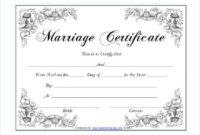 Pin On Certificate Design in Marriage Certificate Editable Template