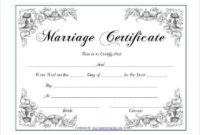 Pin On Certificate Design regarding Marriage Certificate Editable Templates
