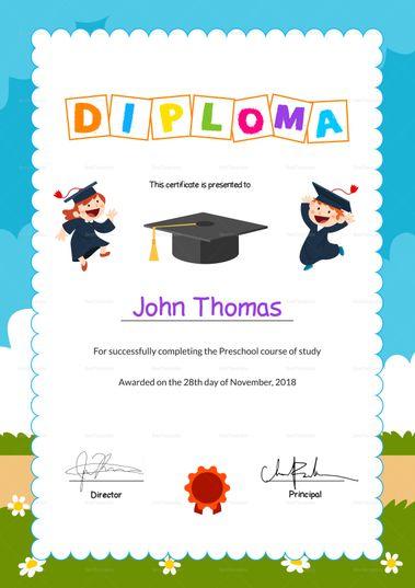 Pin On Certificate Design Templates Regarding Fresh Certificate For Pre K Graduation Template