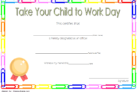 Pin On Certificate For Take Your Child To Work Day Ideas throughout Certificate For Take Your Child To Work Day