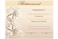 Pin On Certificate Templates throughout Free Retirement Certificate Templates For Word