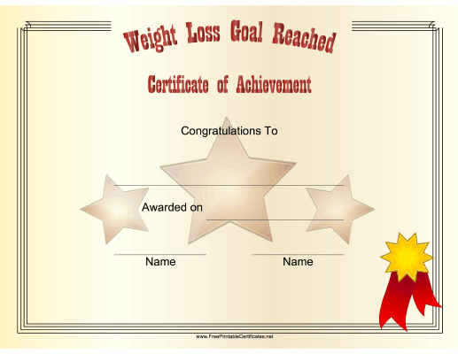 Pin On Certificates Intended For Best Weight Loss Certificate Template Free