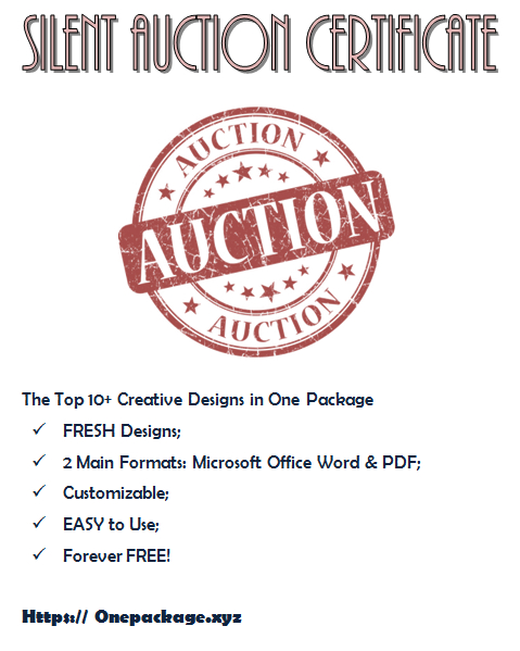 Pin On Donation Certificate Template Free Ideas With Silent Auction Certificate Template 10 Designs 2019
