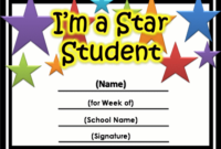 Pin On Education throughout Best Star Student Certificate Template