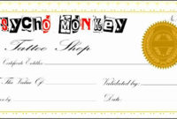 Pin On Employers in Tattoo Gift Certificate Template Coolest Designs