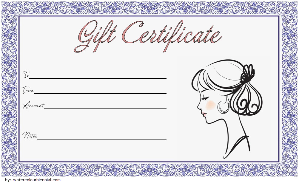 Pin On Fd within Best Free Printable Hair Salon Gift Certificate Template