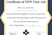 Pin On First-Aid Certificate pertaining to First Aid Certificate Template Free