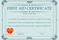 Pin On First-Aid Certificate pertaining to Unique First Aid Certificate Template Free