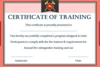 Pin On Fold with Firefighter Training Certificate Template