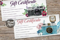 Pin On Gift Certificate Downloads regarding Printable Photography Gift Certificate Template