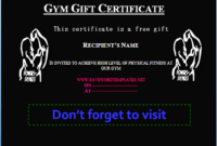 Pin On Gift Certificate Template with regard to Unique Editable Fitness Gift Certificate Templates