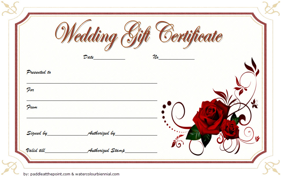 Pin On Gift Certificate Template Word regarding Free Editable Wedding Gift Certificate Template