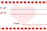 Pin On Gift Giving with regard to Best Valentine Gift Certificate Template