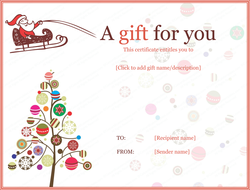 Pin On Gifts Regarding Christmas Gift Certificate Template Free