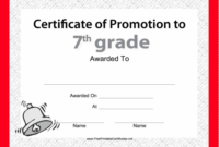 Pin On Grade Book with regard to Fresh Free Printable Certificate Of Promotion 12 Designs