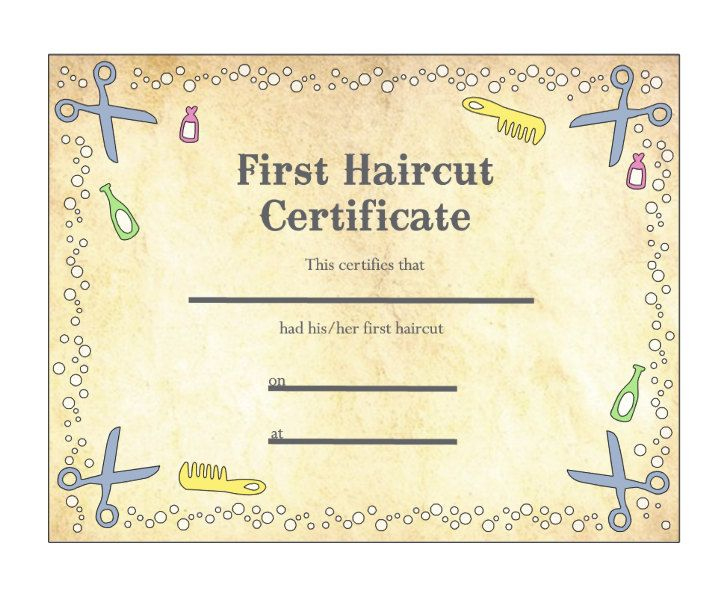 Pin On Haircut For First Haircut Certificate Printable Free 9 Designs