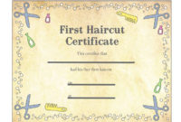 Pin On Haircut within Best First Haircut Certificate