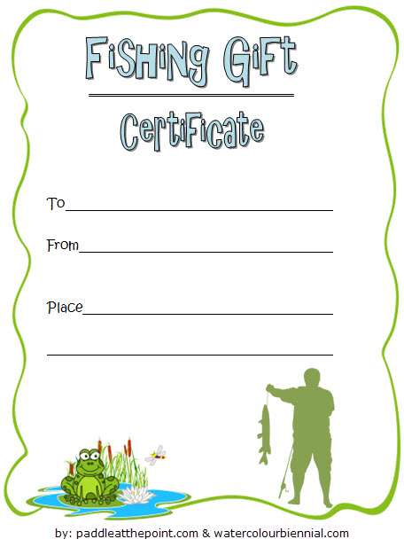 Pin On Holiday Gift Certificate Template Inside Unique Fishing Gift Certificate Editable Templates