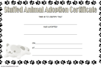 Pin On Jaxon Birthday Ideas in Stuffed Animal Adoption Certificate Editable Templates