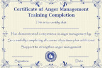 Pin On Libros pertaining to Anger Management Certificate Template Free