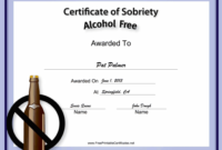 Pin On Places To Visit with Certificate Of Sobriety Template Free