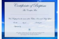 Pin On Prayers, Quotes, Scripture, Printables within Baptism Certificate Template Word Free