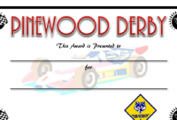 Pin On Primary Presidency with regard to Unique Pinewood Derby Certificate Template