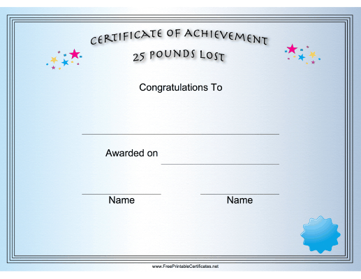 Pin On Printables in Best Weight Loss Certificate Template Free 8 Ideas
