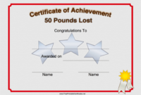 Pin On Printables throughout Weight Loss Certificate Template Free