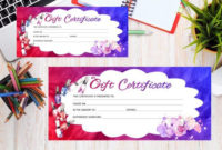 Pin On Products inside Nail Salon Gift Certificate Template