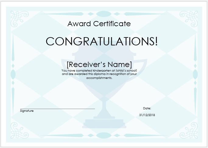 Pin On Sampleformats Inside Winner Certificate Template Free 12 Designs