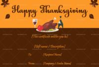 Pin On Thanksgiving Gift Certificate Templates (33+ Editable) within Thanksgiving Gift Certificate Template Free
