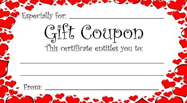 Pin On Valentine'S Day intended for Best Valentine Gift Certificate Template