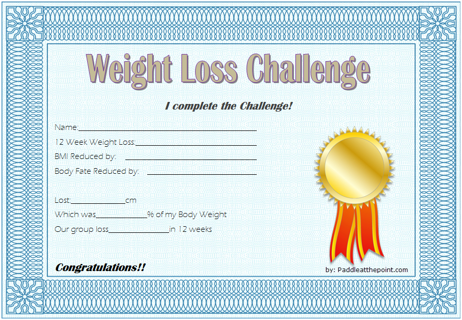 Pin On Winner Certificate Template Word Free with regard to Weight Loss Certificate Template Free
