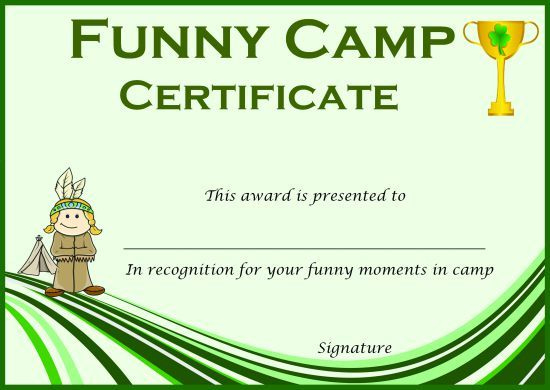Pinнаташа Приходько On English In 2020 | Certificate In Certificate For Summer Camp Free Templates 2020
