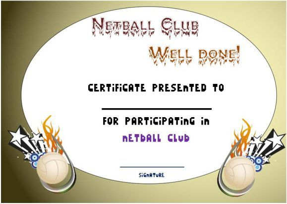 Pindemplates | Small Business Dig On Netball In 2020 Intended For Best Netball Participation Certificate Editable Templates