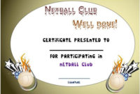 Pindemplates | Small Business Dig On Netball In 2020 intended for Fresh Netball Certificate