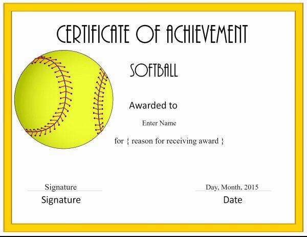 Pinellen Hagstrom On Sport In 2020   Softball Awards Regarding Free Softball Certificates Printable 10 Designs