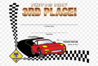 Pinewood Derby Award Certificate Template Just B Cause – 1St with Pinewood Derby Certificate Template