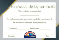 Pinewood Derby Certificate Template: 9 Certificates (All within Pinewood Derby Certificate Template