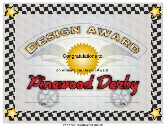 Pinewood Derby Design Award Certificate Template Download In Unique Pinewood Derby Certificate Template