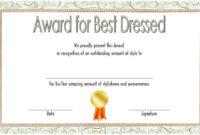 Pinjulian Bobb On Fun Certificates   Best Dressed Award regarding Best Dressed Certificate Templates