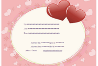 Pink Hearts Gift Certificate Template – Gift Certificates for Best Valentine Gift Certificate Template