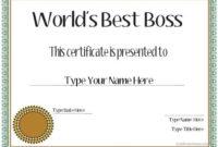 Pinnatalie Angotti On Natalie | Best Boss, Worlds Best within Worlds Best Boss Certificate Templates Free